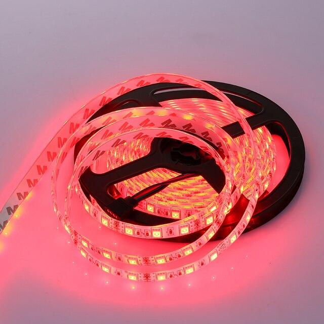 5 M/ROLL DC12V ip65 à prova d água ip20 5050RGB LEVOU luz de tira flexível led strip 60 LEDs/mt luz para decoração FPCB