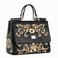 2016 Genuine Leather Women Messenger Bags Flowers Embroidery Totes Ladies Evening Clutch Purses Shoulder Handbag Crossbody Bag
