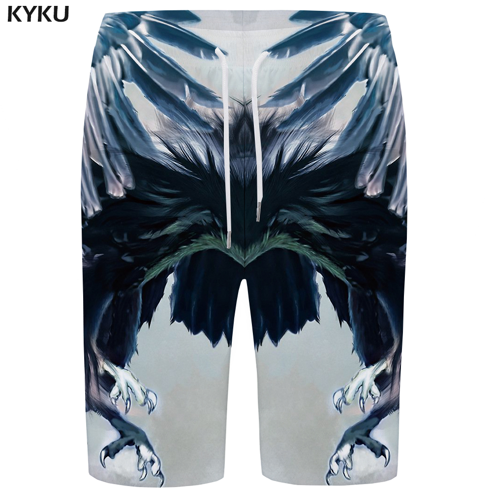 KYKU Eagle   Board     Shorts   Men Animal   Short   Pants Quick Silver Space 3d Printed   Shorts   Swimwear Beach Casual Mens   Shorts   Summer New