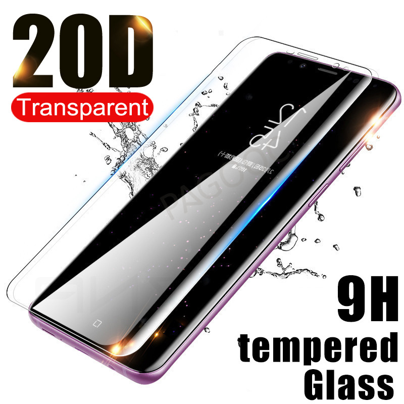 3a871ef011db 20D Curved Tempered Glass on for Samsung Galaxy S8 S9 Plus S7 Edge Note 8 9  S8 S9
