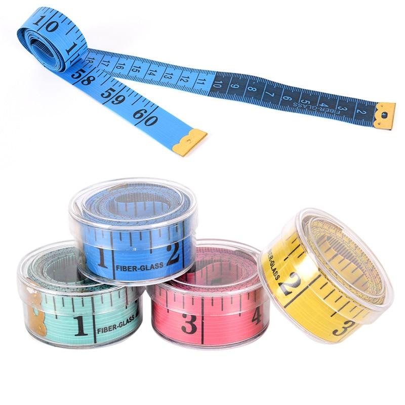 150cm/60 Body Measuring Ruler Sewing Tailor Tape Measure Soft Flat Sewing Ruler Meter Sewing Measuring Tape Random Color new 1pc 1m 3ft easy retractable ruler tape measure mini portable pull ruler keychain color random