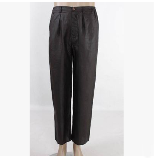 Occidental 100 Mâle Canton Pur Gambiered Pantalon De Gaze Black Guangdong Naturel Pantalon Style Hommes Soie vSWvPqr