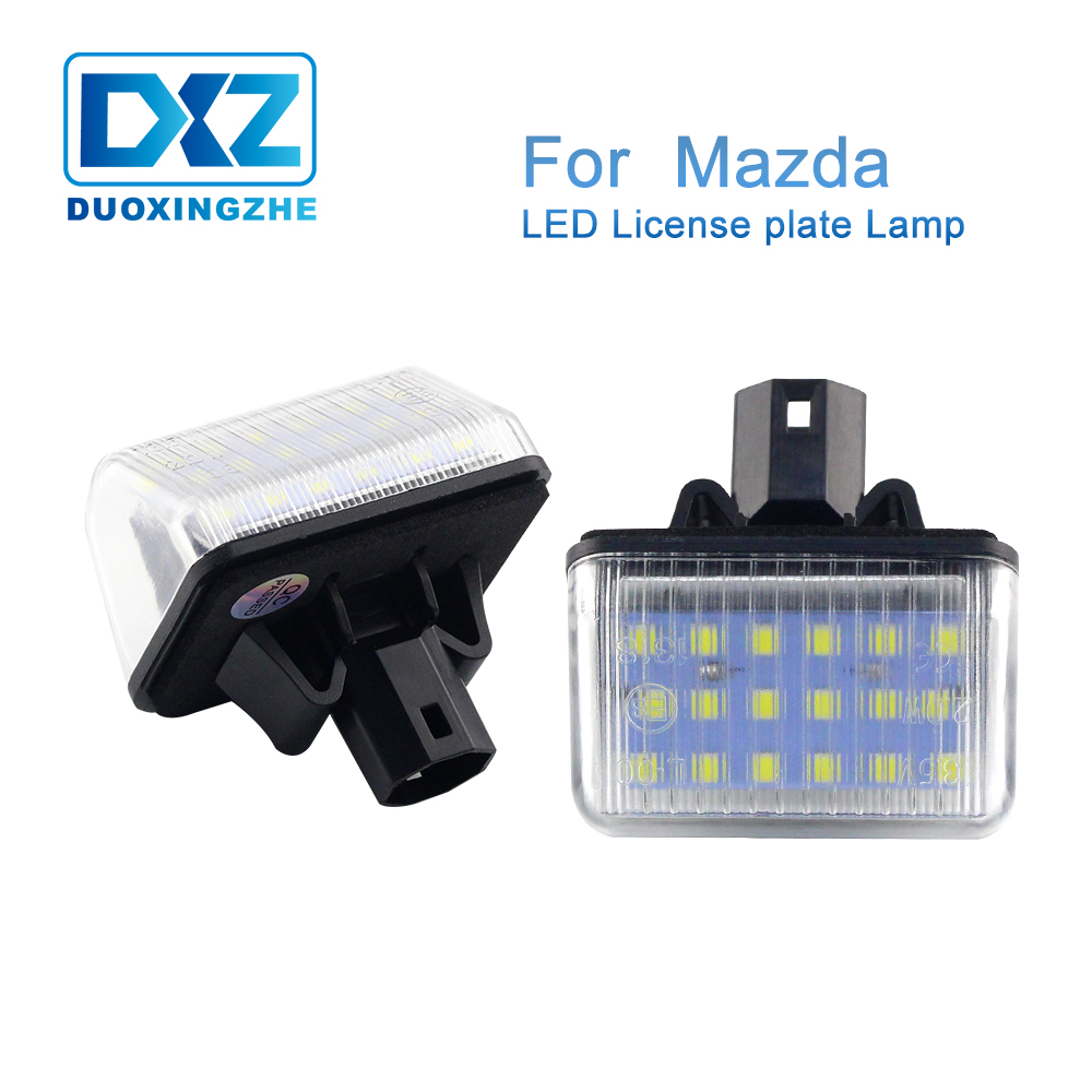 DXZ 2X <font><b>LED</b></font> Number License Plate Lights Lamp Bulb Canbus Error Free For <font><b>Mazda</b></font> 6 Sedan Station Wagon MPS CX-7 CX-5 speed 6 12V 24V image