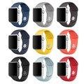 Pulseira pulseira de borracha para apple watch iwatch 38mm 42mm pulseira de silicone pulseira para apple watch/esporte/edição com adaptador de banda