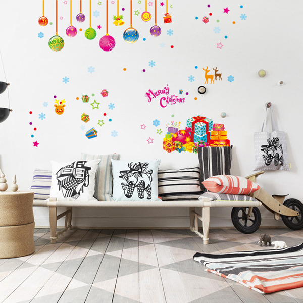 1pcs christmas balloon wall sticker decals wallpaper mural coffee