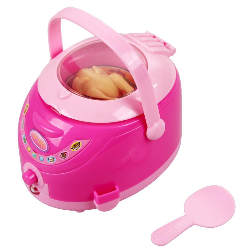 Mini Pink Rice Cookers Kids Toys Pretend Play Toy Simulation Food Cooker Playing House Game Educaitonal Toys for Children
