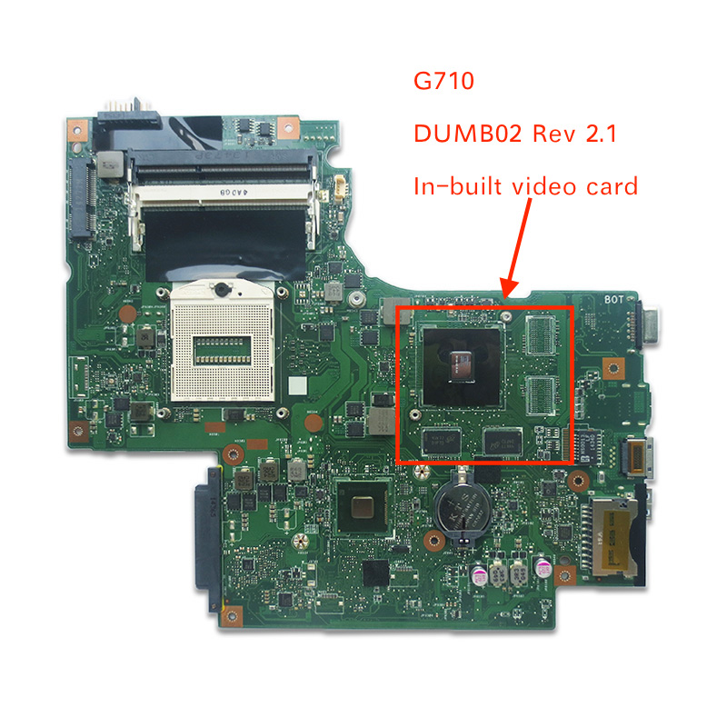 Genuine new DUMB02 REV2.1 MAIN BOARD For Lenovo G710 Laptop Motherboard with on board video card