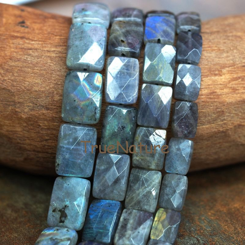 Various Size Labradorite Loose Stone Beads Rectangle Faceted Stone Strand Natural Slab Nugget Healing Beads BE6402 electric heating penis silicone realistic big dildo vibrator sex toys for woman lifelike huge dick foreskin usb charging