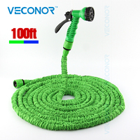 100ft 30m Expandable Flexible Magic Water Hose Pipe With Spray Nozzle Gun Garden Hose Retractable Water