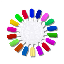 5pcs set False Nail Tips Gel Polish Color Showing Shelf Display Card Art Practice NAA