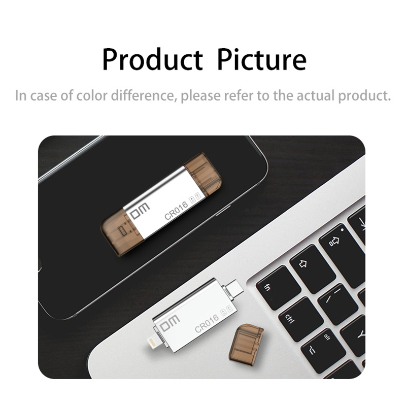 Image 2 - DM CR016 Lightning Micro SD/TF OTG Card Reader USB 3.0 Memory Mini Cardreader for iPhone 6/7/8 Plus iPod iPad OTG Card Reader-in Card Readers from Computer & Office