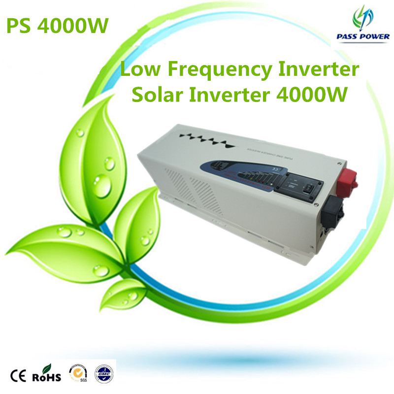 Free Shipping  pure sine wave inverter 4000w low frequency off grid dc ac  inverter 4kw