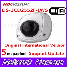 2017 HiK English Version 5MP Mini Dome CCTV Camera DS-2CD2552F-IWS Mini Dome IR Network WiFi Camera Full HD 1080P POE Audio