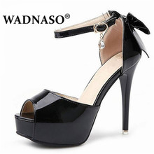 WADNASO New Summer Sexy Women High Heels Sandals Fashion Stripper Shoes Party Pumps Platform wedding Eu 34-39