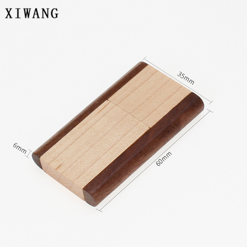Rotatable usb 2 0 wooden USB flash drive 4GB 8GB pendrive 16GB pen drive 32GB 64GB USB memory wedding gift engrave company logo in USB Flash Drives from Computer Office