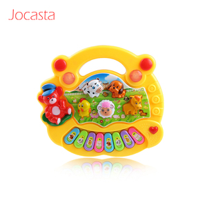Image 4 - 2 Types Farm Animal Sound Kids Piano Music Toy Musical Animals Sounding Keyboard Piano Baby Playing Type Musical Instruments