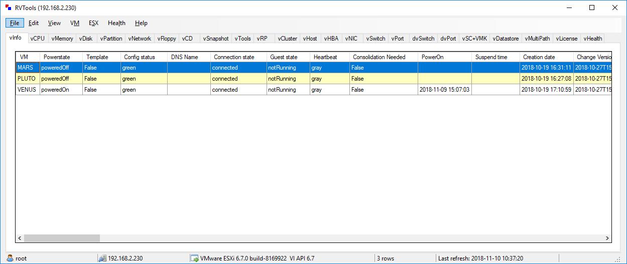 VMware vSphere 免费运维工具 RVTools 3.11.9