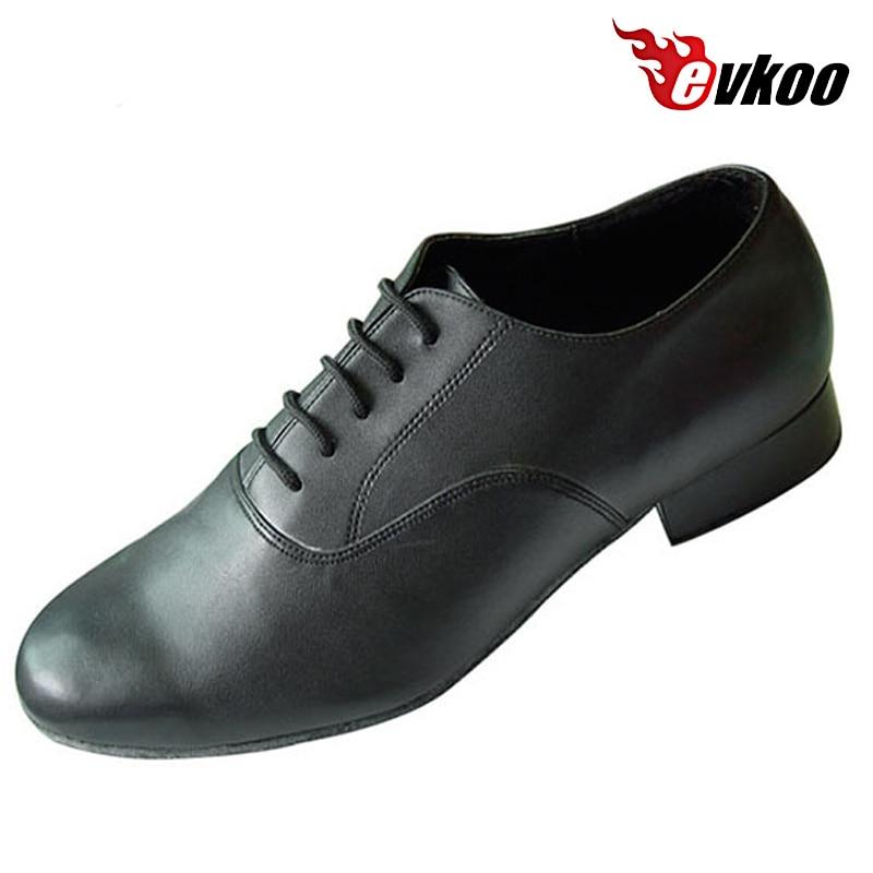 ФОТО 2016  Man's Modern Salsa Tango Dance Shoes Black Or Brown 2.5 Cm Heel Can Be Choose Evkoo-303