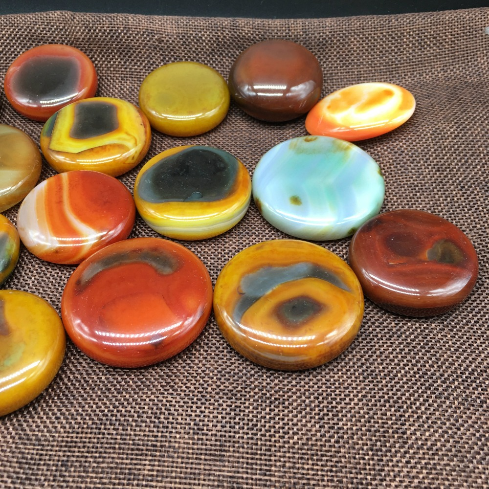 1pcs Charming natural Red Onyx Agate Round Cab Cabochon crystal love natural stones and minerals free shipping fish tank stone