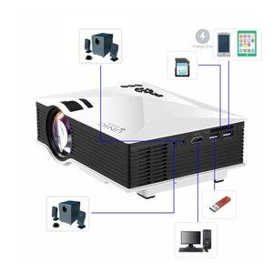 Image 2 - Original UNIC Neue Upgrade UC68 Volle HD1800 lumen led projektor Heimkino Multimedia Unterstützung Miracast Airplay USB HDMI VGA