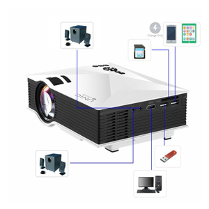 Image 2 - Original UNIC New Upgrade UC68 Full HD1800 lumens led projector Home Theatre Multimedia Support Miracast Airplay USB HDMI VGA