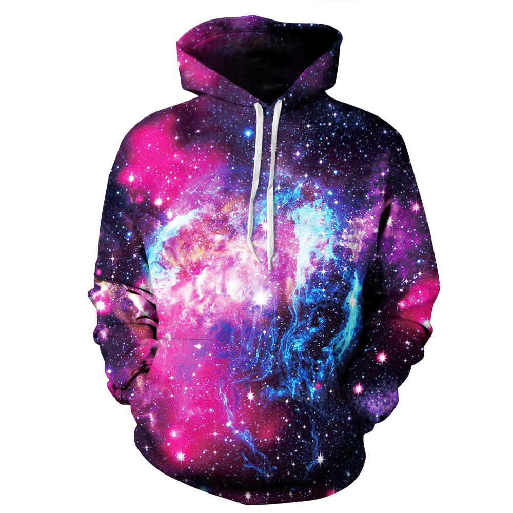PLstar Cosmos Nytt mode Hoodies Casual Sweatshirts Galaxy Space 3D Print Hip Hop Hoodies Street Wear Kläder Plus Storlek S-3XL