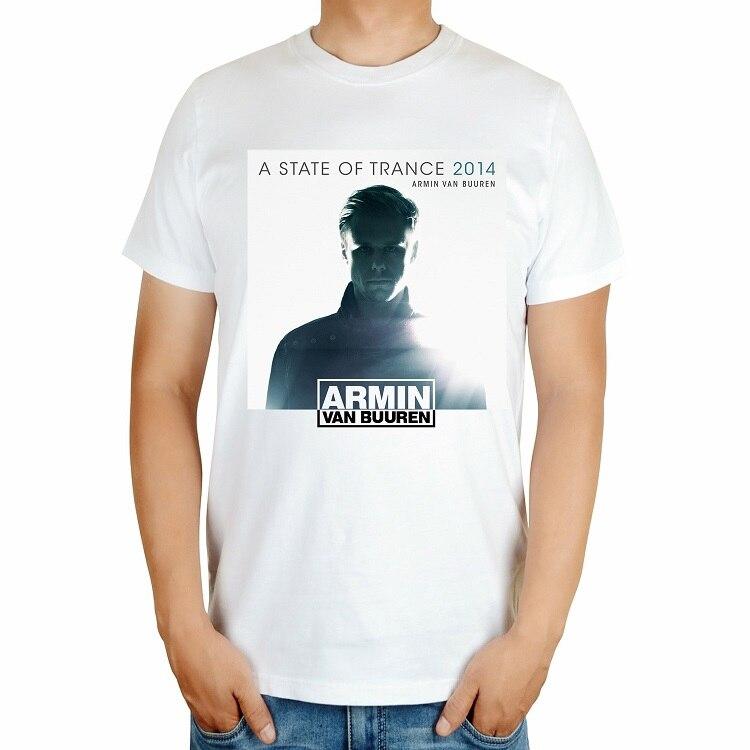 4 вида Armin Van Buuren бренд певица диджейская футболка белый mma с принтом хлопковая футболка музыка живой Фитнес camisetas hombre - Цвет: Черный
