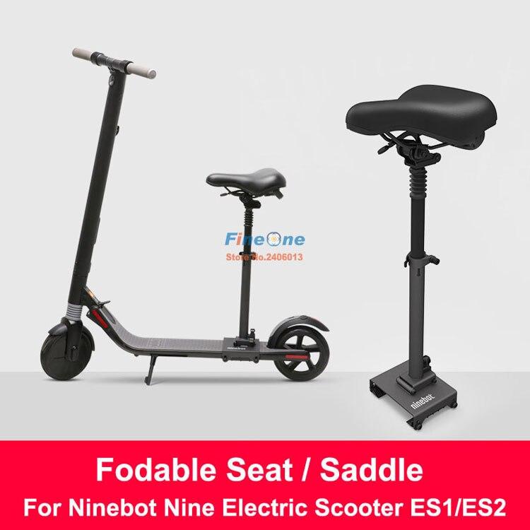 Original es1es2 scooter elétrico assento dobrável sela