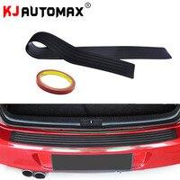Black Car Trunk Guard Plate Sticker Rear Bumper Rubber Protection FOR Dacia Duster Logan Sandero Stepway