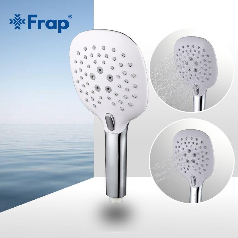 Frap двойная регулировка водосберегающая круглая насадка для душа ABS пластик ручной держатель для Ванной Душа аксессуары для ванной комнаты ...