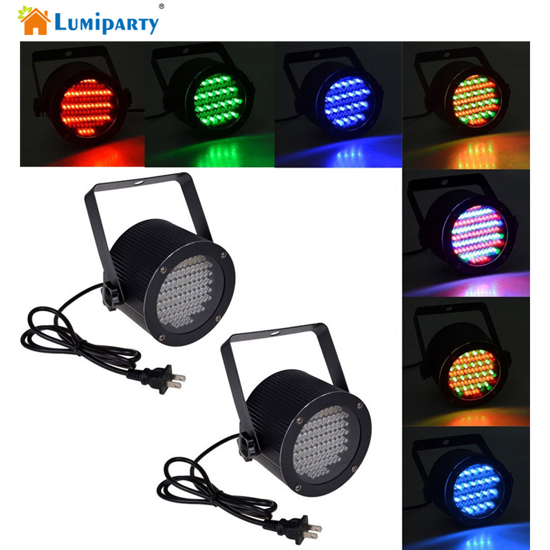 Lumiparty 86 RGB LED Stage Light Disco Par Light Portable RGB Magic Sound Activated Lighting Laser Projector for Party Disco Pub