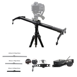 EACHSHOT 60cm / 24 Ball-Bearing Camera Video Track Slider Stabilizer System for DSLR Camcorders