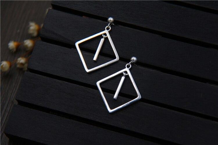 C & R Real 925 pendientes de plata esterlina para mujer cuadrado - Joyas - foto 3