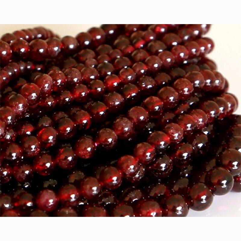 0aec7fbb4c45 De descuento al por mayor Natural rojo granate redonda piedra pequeña perlas  de 3mm-10mm joyas DIY collares o pulseras 15