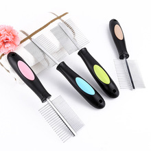 Manufacturers of direct sales stainless steel pet comb hair knots depilation to remove lice flea cleaning