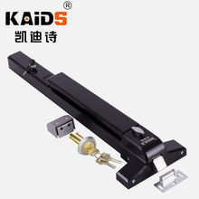 KAIDS alarma única varilla de empuje de bloqueo perno de pintura de hierro dispositivo de salida de alarma puerta de Escape de incendios bloqueo de la barra de empuje Anti pánico Bloqueo de salida
