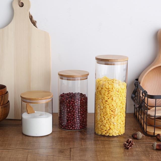 Kitchen organizer zakka storage tank sealing glass jar food grains
