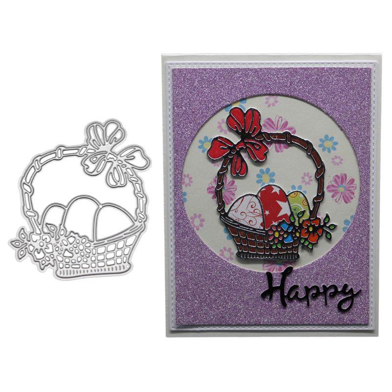 Flower Basket Metal Cutting Dies Stencil Scrapbooking DIY Album Stamp Paper Card