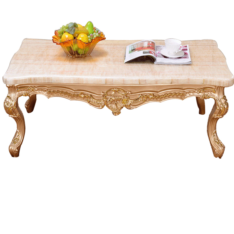 european marble coffee table small apartment living room french champagne new wood tea table in. Black Bedroom Furniture Sets. Home Design Ideas