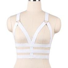 JLX. harnais blanc corps harnais Bondage Crop Top gothique Cage soutien-gorge  élastique corps harnais soutien-gorge Lingerie Sex. 0b1ac63d66a