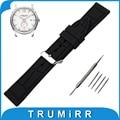 19mm 20mm 21mm 22mm 23mm 24mm de aço inoxidável faixa de relógio de borracha de silicone para hamilton cinto de fivela de cinta de pulso pulseira preta