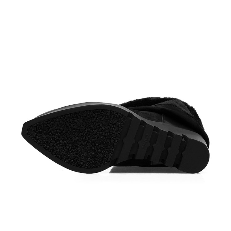 Botas Delgada Suela Color Otoño Rodilla Plataforma 43 Diseño Tamaño Gruesa X60 Grande Mujer Negro Patch 6 Sobre 2016 La Marca Invierno Largo 34 dwFOadxq