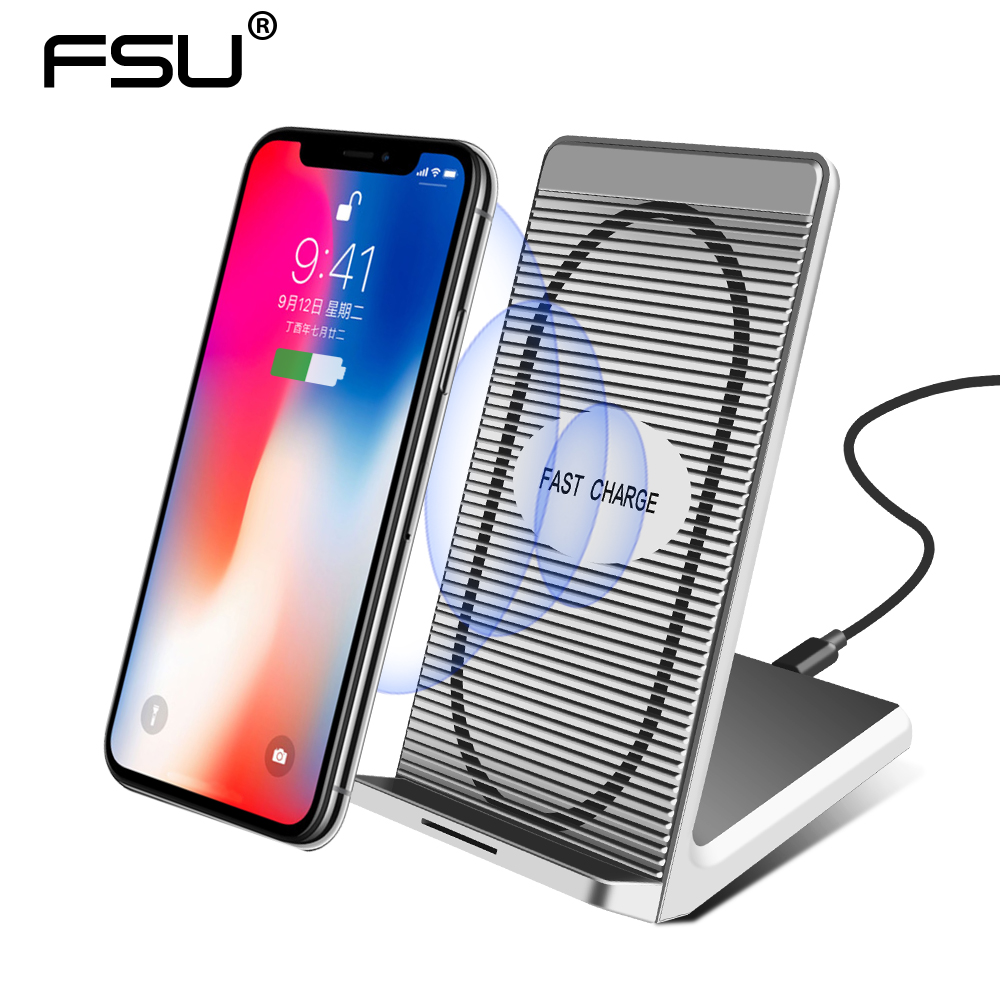 Wireless Charger For Xiaomi Mix 2s Huawei For Samsung Galaxy S9 S8 Plus S7 Note 9 8 QI Wireless Charging Pad For iPhone X 8 Plus qi wireless charger pad transmitter with receiver set for samsung galaxy s5 black