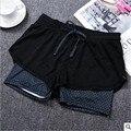 Alta Qualidade Double-deck Mulheres Calças 2017 Verão Estilo Respirável de Algodão Macio Malha Calças Curtas Quick Dry Curto Elástico calças