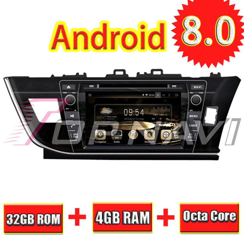 TOPNAVI 8 ''Android 8,0 Автомобильный gps навигация для Toyota Corolla 4G ram RHD Авто DVD стерео 2013 32 ГБ медиа центр плеер видео