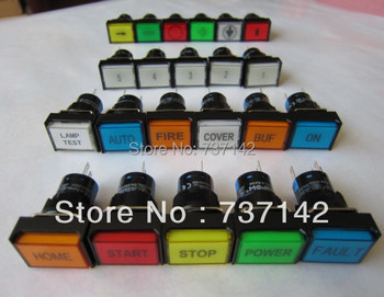 ELEWIND push button with symbol label(PB161J-11/R/12V/P with letter)