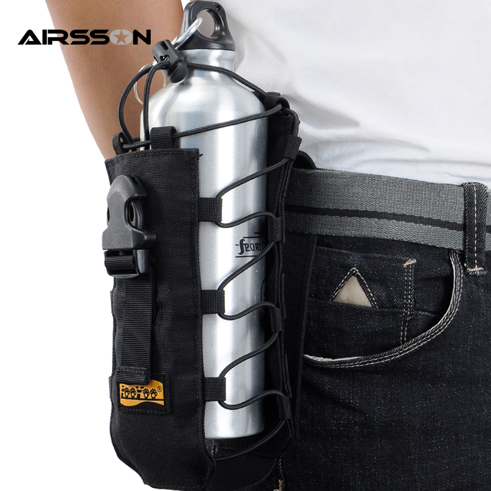 Military Tactical Water Bottle Pouch Nylon Molle Wine Bag Kettle Outdoor Hiking Camping Holder Carrier 500ml 2l In Climbing Bags From Sports