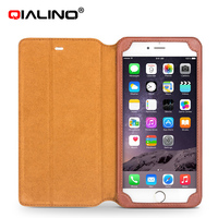 For Iphone6 6s Case QIALINO Luxury Genuine Leather Case Stand Function IPhone 6 6s Plus Case