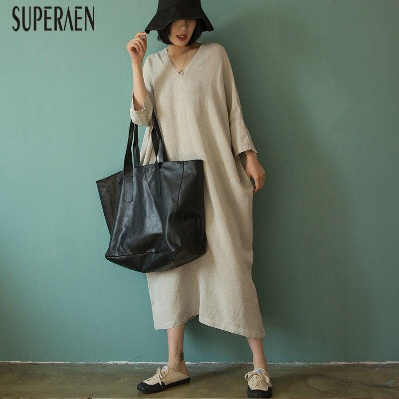 cc6dd45202 SuperAen-d-contract-Mode-robe-pour-femme-Solide-Couleur-Sauvage-robe-avec- col-en-v-Femme.jpg