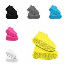 1 пара многоразовые Водонепроницаемый эластичность галоши; обувь для дождя сапоги галоши для путешествий пляжные Нескользящие резиновые сапоги; женские резиновые чехлы для обуви
